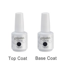Wholesale Beauty Nail Product Bottles ml Gelpolish Top Coat Primer With Brush High Quality Private Label Nail Polish