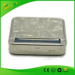 Wholesale Automatic Cigarette Roller Storage Box Silver handmade All In One for tobacco machine dry herb bong glass water pipe