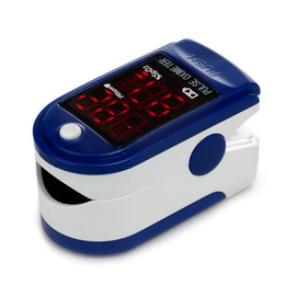 Wholesale Finger Pulse Oximeter LED Display Blood Oxygen Saturation SpO2 Digital oximetro de dedo de pulso health monitorJPD B CE FDA