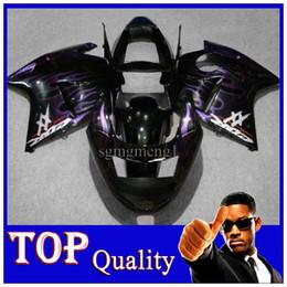 Wholesale Cbr Fairing Kit Purple - Black Purple Flames CBR1100XX 1997 1998 1999 2000 2001 2002 2003 Body Kit Fairing For honda CBR 1100 XX Blackbird 96 97 98 99 01 02 03 04 05