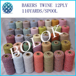 2014 new 52 color Cotton Baker twine 12ply 110 yards spool bakers twinefor gift packing