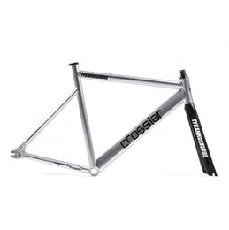 Wholesale fixed gear frame with carbon fiber fork velo frameset carbon colorful aluminium frame