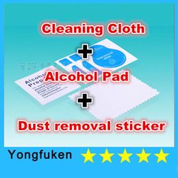 Venta al por mayor Pantalla LCD Microfiber Cleaner Cloth Etiqueta de eliminación de polvo Alcohol Prep Pad para gafas Lente de la cámara Pantalla LCD Cellphone BU desde venta al por mayor cojín del paño proveedores