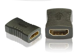 Wholesale Factory Price HDMI to HDMI Female Adapter Black Coupler F F Extender Adapter Connector p In Stock