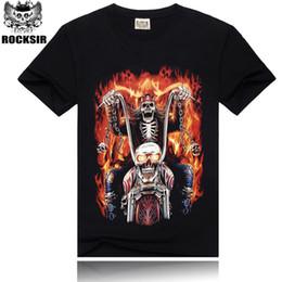 2015 men's fashion new style t shirt,100% cotton tshirt men,Blazing Skeleton 3D printed tshirts man,hot sale t-shirt men!HA11