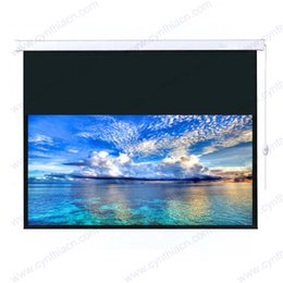 Wholesale CYNTHIA SCREENS lowest price automatic pull up and down wall mount electric projection screen inch CMP