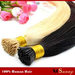 "XCSUNNY I Tip Virgin Hair Extensions 18""20"" Natural Hair Extensions Keratin 100g 1g s I Tip Human Hair Extensions Ombre"