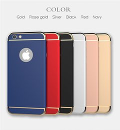 For iphone 6 6plus phone case Full Protection 3in1 Plating Matte Back Cover Coque Housing For iphone 6s 6s plus