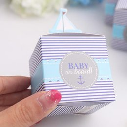 Wholesale Baby on Board Favor Box baby shower party candy box guest gift present box
