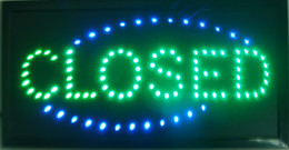 Wholesale CLOSED shop LED x10 quot Sign Bright Store neon Bar Close Animated Light open mart