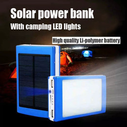 Wholesale 2016 hot sale mAh Cargador Portatil Solar Power LED camping lantern Bateria Pack Energy Bank Sun Battery Charger Powerbank
