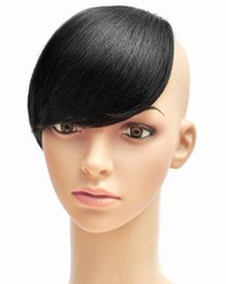 Les brunes à vendre-Fashion Girls clip sur Clip Bangs clip clip Bang côté sur les franges de cheveux humains 30g / pcs noir / naturel / brun 7 couleurs