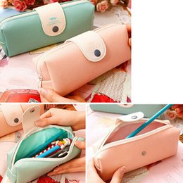 Wholesale-2 Colors Lovely Print Pencil Case Women Cosmetic Cases Hasp Zipper Mini Pen Bags
