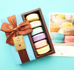 Wholesale Macarons Soap Hand Made France Macarons Coconut Oil Soap Gift Box pieces