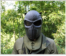 Wholesale colors Punisher Airsoft Paintball BB Gun Full Face Protect Safe Mask D12 Halloween mask party a spoof