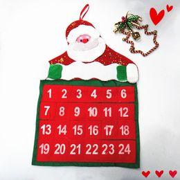 Wholesale 2016 Hot Sale Christmas Calendar Santa Claus And Snowman Christmas Advent Christmas Party Decoration