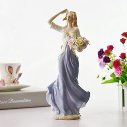 Wholesale Fashion Home Decorations Ceramic Crafts Sculpture Decoration Porcelain Crafts Beauty Girls Casting Home Ornaments Gifts Styles