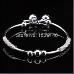 Wholesale Fashion Bracelets Lucky Bead and Bell With Pull tab Silver Bracelet Bangles For Women Handmade Jewelry New Arrival