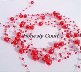 Wholesale M mm amp mm New Colorful Pearl Beaded Garland Spool Beads Wedding Centerpiece Decoration