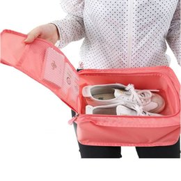 New fashion Nylon & Mesh Travel Portable Tote Shoes Pouch Waterproof Storage Bag 6 colors