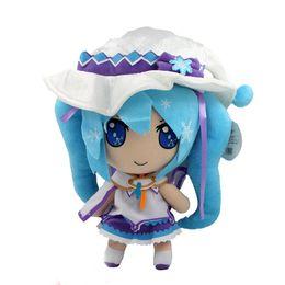 Wholesale 1Pcs Japanese Animation Hatsune Miku Vocaloid Snow Miku Magical Snow cm Plush Soft Doll Toy Loose
