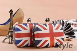 Nueva llegada del envío libre de la bandera del Reino Unido con la bolsa de mensajero de cadena cruzado del cuerpo de la alta calidad de la manera británica Glag Bolsa de fiesta informal desde bolsos de fiesta uk proveedores