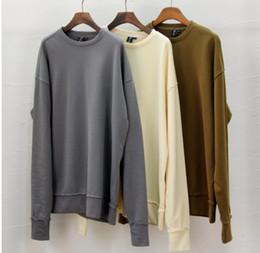 Wholesale-streetwear khaki camel hip hop men jacket season 1 mens clothing HipHop Sweatshirt tyga kanye west oversized hood hoodie