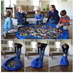 Stockage pour les jouets en Ligne-40cm 150cm Grand Portable Tapis de jeu Sacs de rangement pour enfants Enfants Enfant Baby Tapis de jeu Organizer Couverture Couverture Boxes Easy 30pcs
