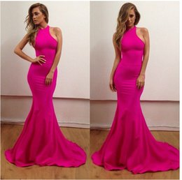 elegant off-shoulder sexy hot pink long fitted mermaid prom dress fast shipping evening dress for women