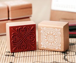 Wholesale-DIY Scrapbooking Lace Stamps Vintage Flower Wood Rubber Craft Ink Pad Stamp Wax Seal Stamp