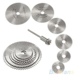 Wholesale 7Pcs HSS Rotary Tools Circular Saw Blades Cutting Discs Mandrel Cutoff Cutter Power tools multitool ON7 KET
