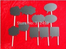 Wholesale-Photo Booth 10pcs Set Party Decorations Wedding Photo Props Mini Chalkboard Signs with Stick Wedding Decoration Party