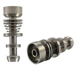 wholesale New titanium domeless nail gr2 14 18mm male joint nails for Glass Pipe Smoking from factory directly selling
