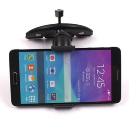 Wholesale-Car CD Slot Clip Mount Holder For Samsung Galaxy Note 4 3 N9100 N9000 S6 S5 S4