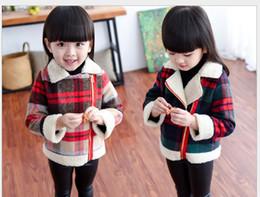 kids long sleeve warm coat children winter antumn thick plaid jacket clothing kids outerwear & coat boy parka Girls coat