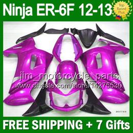 Glossy purple 7gifts For KAWASAKI NINJA 650R 650 ER-6F 12-13 NINJA650 ALL Purple 5L21 ER6F ER 6F 12 12 13 2012 2012 2013 Fairing+Bodywork