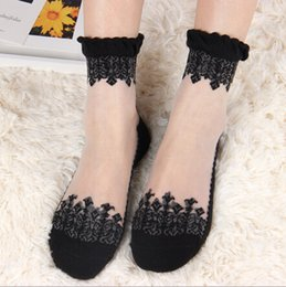Wholesale Big Girl Lace Short Socks Big Girl Lace Cotton Socks Fashion Lace Socks DCA6A