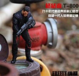 "Anime The Terminator T-800 Arnold Schwarzenegger PVC Action Figure Collectible Model Toy 7"" 18cm in opp bag"