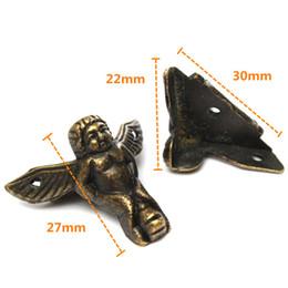 Wholesale 50pcs MM Zinc Alloy Retro Antique Brass Jewelry Antique Brass Jewelry Chest Wood Box Decorative Feet Leg Corner Protector