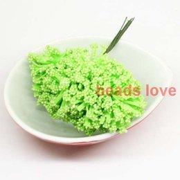 (144pcs lot) Sale!! big foam leeks Green flower Chives Flower with wire stem wedding flowers (w03315)