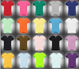 Wholesale Women Plain T shirts Blank Round Neck T shirts Size S XXL Colors