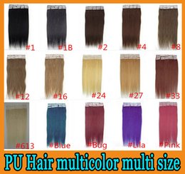 Wholesale Remy human hair Weave PU Skin Weft Tape hair extensions inch Brazilian malaysian indian set A Best Quality