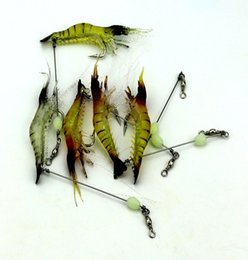 Wholesale Shrimps For Fishing Bait - Fish Tackle 7.5cm 6.6g Fishing Soft Bait Simulation Grass Luminous Shrimp Transparent Yellow Saltwater A Gifts For Fishing Enthusiasts