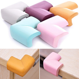 10PcS   lot Soft Baby Safe Corner Protector Baby Kids Table Desk Corner Guard Children Safety Edge Guards 55*30*13mm CYC3