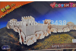 Wholesale-Educational Toys Great Wall Diy 3D Wooden Scale Models 64.5*30*16CM