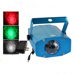 Wholesale LED Water Wave Effect Light Projector W for Party Aquarium KTV Bars Auto Voice activated Amazing Red Yellow Blue Green White Stadium Lamps