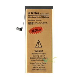 Wholesale 3 V mAh Rechargeable Gold Li ion Polymer Battery Replacement For iPhone iP Plus inch Batterie Batterij Bateria