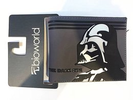 Wholesale Best Price star wars wallets Animated Cartoon Wallet Star Wars White Knight Black Knight Wallet Young Student Personality Purse L0135