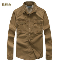 Tactical Outdoor sports mens Cotton canvas multi-pocket casual full long-sleeved camouflage sleeve shirts for Cycling Camping Fishing