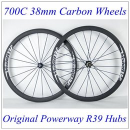 Wholesale Best Price Vision C mm Depth mm Width Full Cabon Fibre Road Bike Wheels K Weave Matt Finish Powerway R39 Hubs Carbon Wheels